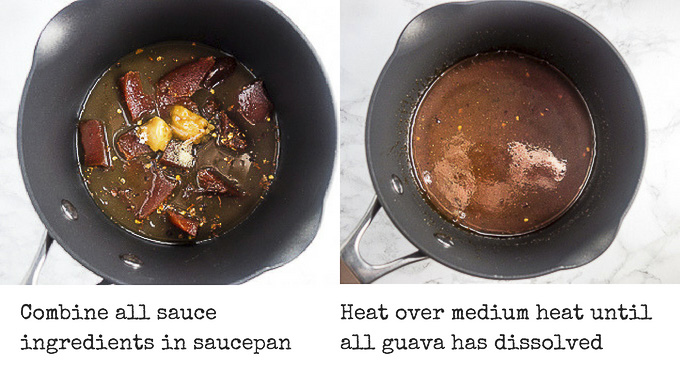 steps for cooking guava sauce