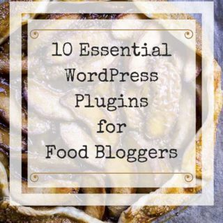 the essential wordpress plugins on top of a pie photo