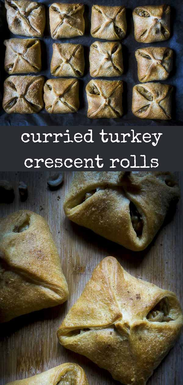 Curried Turkey Stuffed Crescent Roll Appetizers
