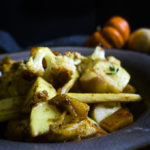 bowl of curry roasted winter vegetables