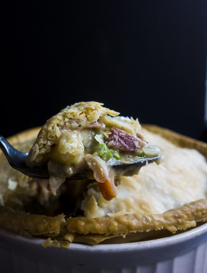 spoonful of easy leftover turkey pot pie