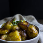 bowl of perfect crispy roasted potatoes