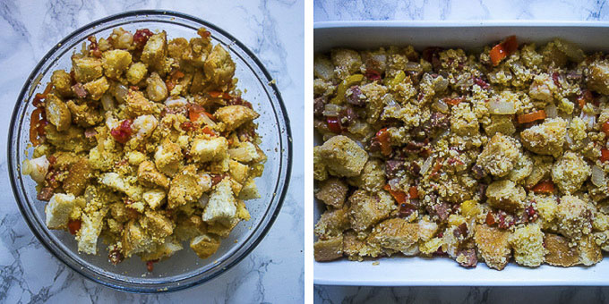 how to make jambalaya stuffing step by step photos
