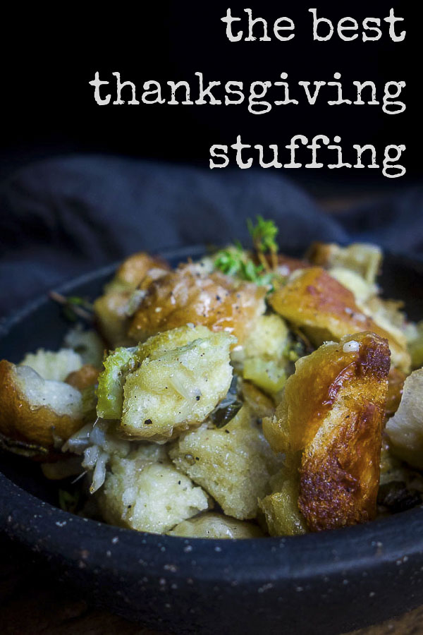 These tips for making a simple classic stuffing will help you get that moist, buttery, Thanksgiving flavor packed stuffing every time. Includes a recipe for the most perfect classic stuffing ever, or use these tips to make your own homemade stuffing creation! #thanksgivingstuffingperfect thanksgiving stuffing | classic stuffing | herb stuffing | best stuffing recipe | simple stuffing | bread stuffing recipe | stove top stuffing | perfect stuffing