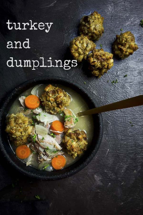 A perfect way to use those Thanksgiving leftovers, this Turkey and Dumplings soup has these amazing crispy stuffing dumplings made from leftover Thanksgiving stuffing. These stuffing dumplings for soup are super easy to make and just perfection when served in a steaming bowl of turkey soup. Perfect leftover stuffing recipe! #turkeysoup #turkeyanddumplings #thanksgivingstuffing #stuffingballs #homemadestuffing #stuffing #turkey #leftoverturkey #wenthere8this