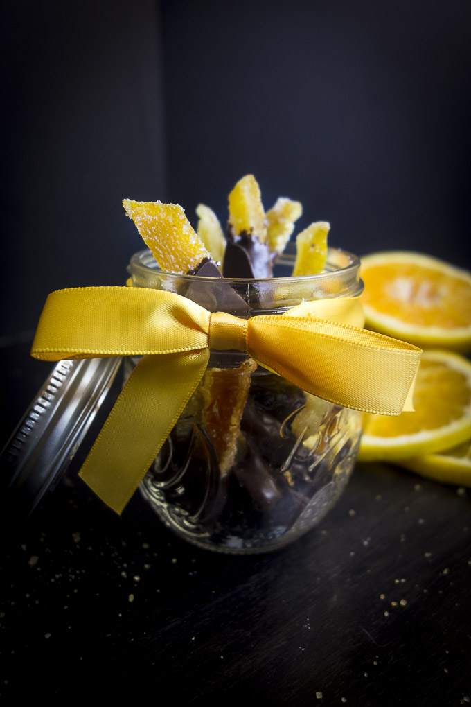 gift of chocolate covered candied orange peels
