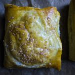 caramel apple puff pastry baked golden brown