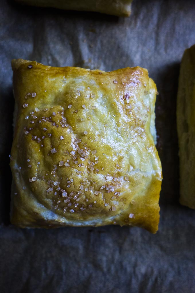 puff pastry apple turnovers baked golden brown