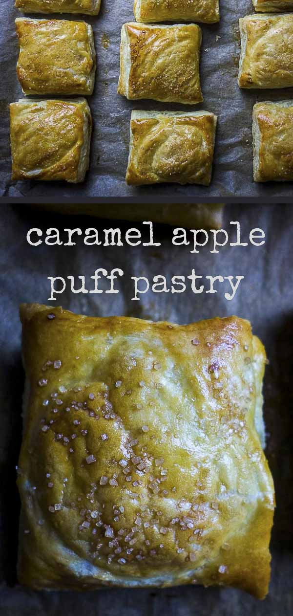 Puff Pastry Apple Turnovers with Caramel Sauce
