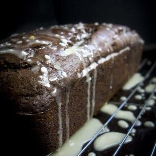 chocolate orange bread drizzle with orange glaze