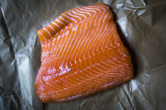 fresh piece of salmon
