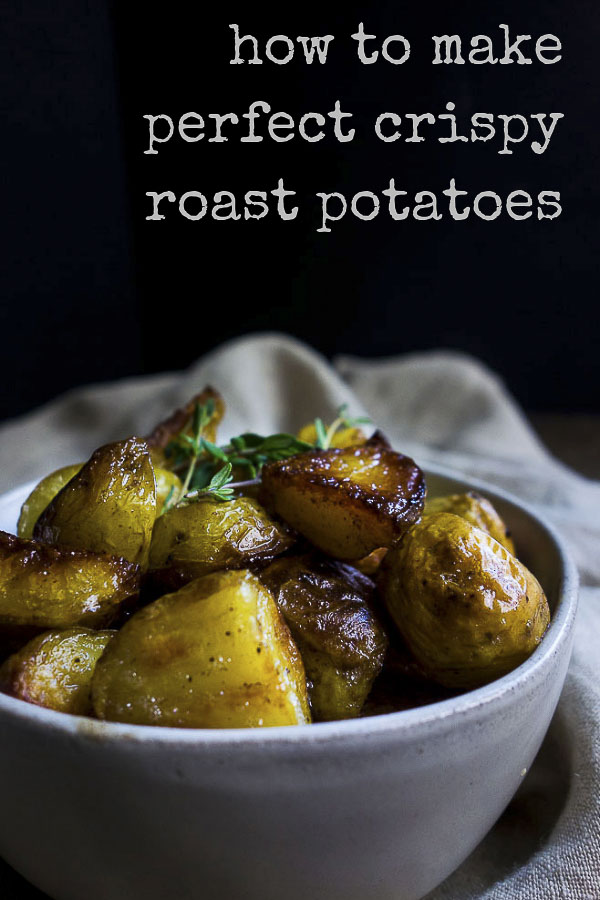 Learn how to make perfect Crispy Roasted Potatoes - you know, those buttery, crisp on the outside but deliciously creamy on the inside, flavor packed potatoes that you always dream of making? Well now you can! #crispypotatoes #butterpotatoes crispy roast potatoes | perfect oven roasted potatoes | extra crispy roasted potatoes | the best roasted potatoes | butter roasted potatoes | simple roasted potatoes | oven fried potatoes | how to make perfectly crisp potatoes