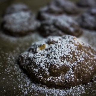 close up of chocolate shortbread cookie - food photography