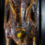 roasted goose stuffed with oranges