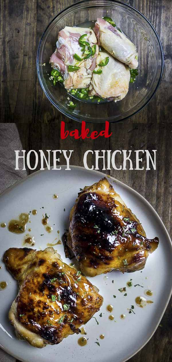 Spicy Baked Honey Chicken Thighs