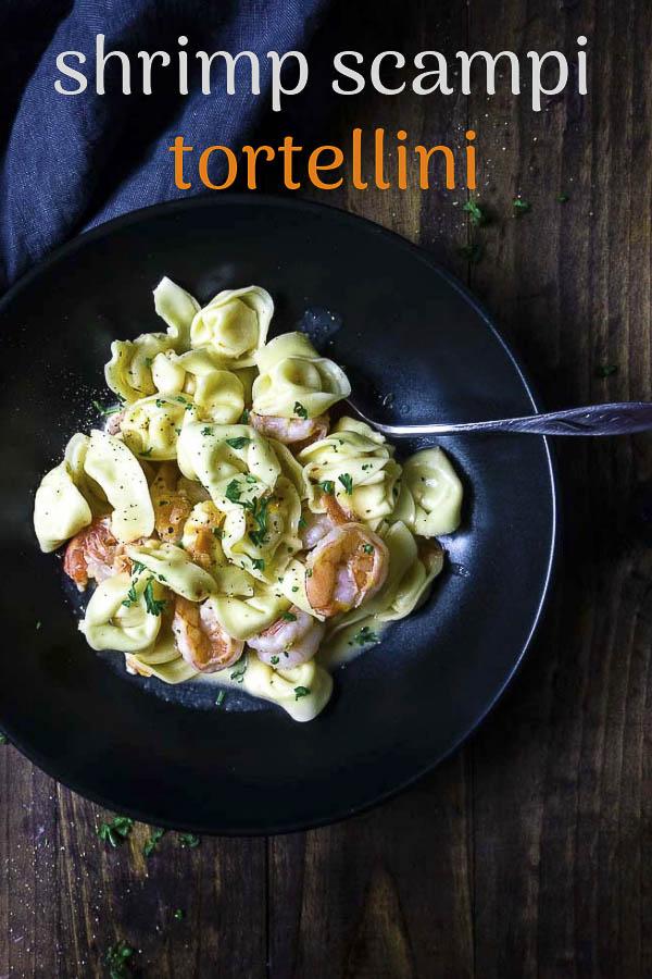 Creamy Shrimp Scampi Tortellini