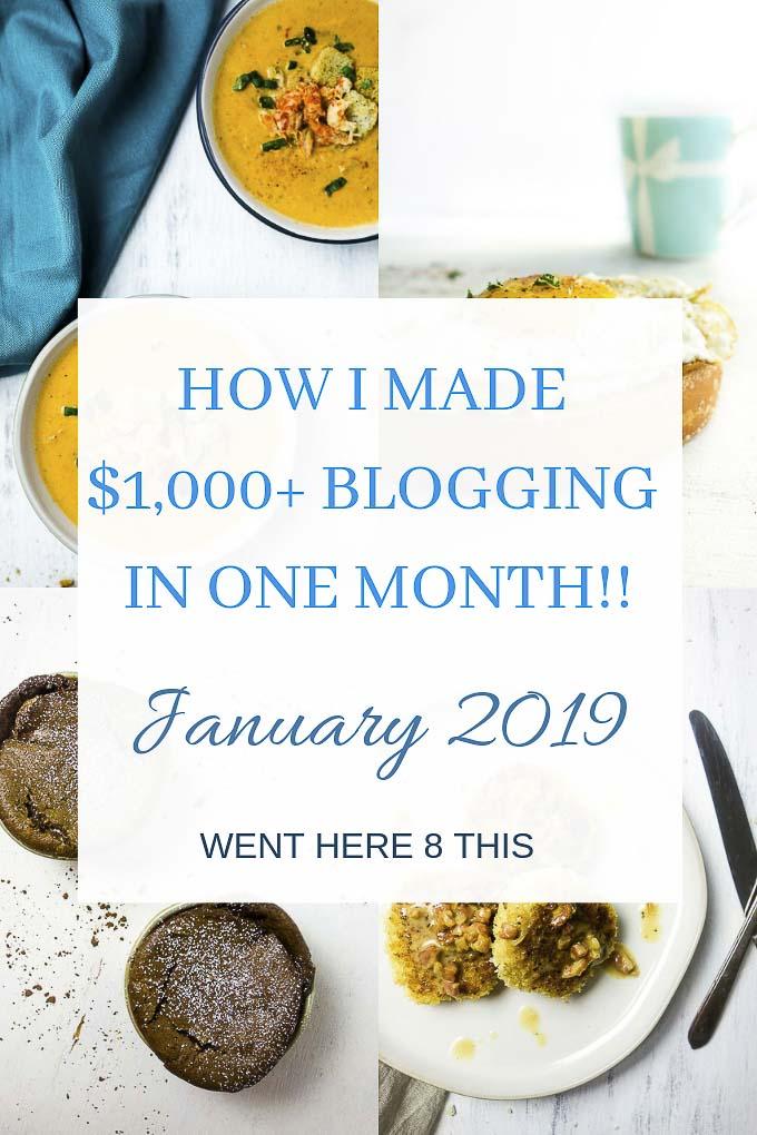 Food Blog Income Report: January 2019