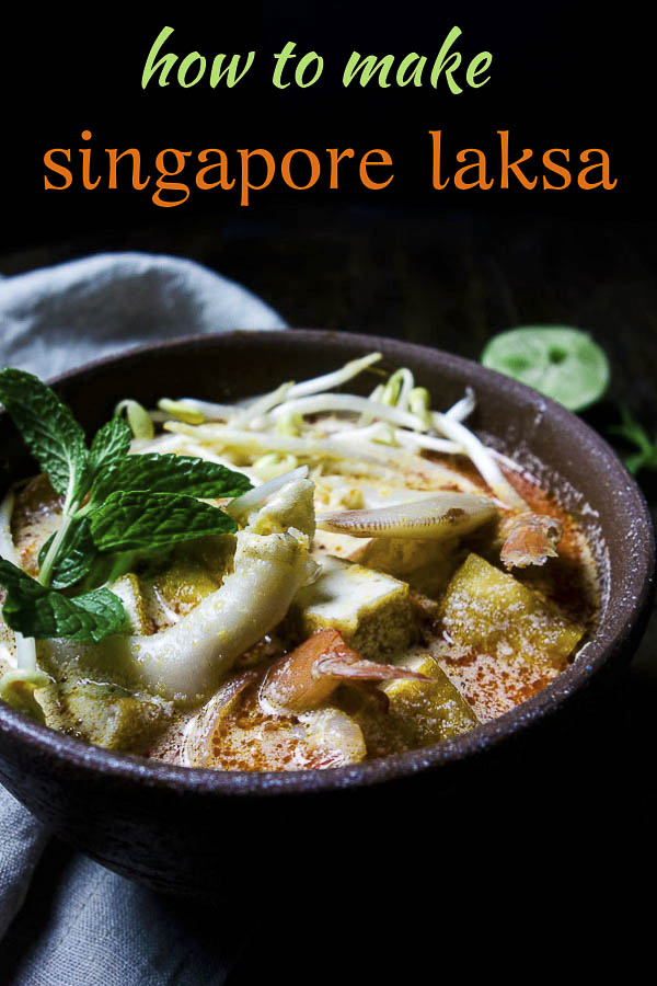 Authentic Singapore Laksa is incredibly flavorful, rich, delicious, plus this version is super easy to make, and packs a very authentic flavor! The strong flavors of tamarind, fish sauce, lemongrass and spicy Thai chilies combined with the richness of the coconut milk, together with the fresh seafood and rice noodles makes a dish of perfection in under 30 minutes. #wenthere8this #seafoodlaksa #homemadelaksa