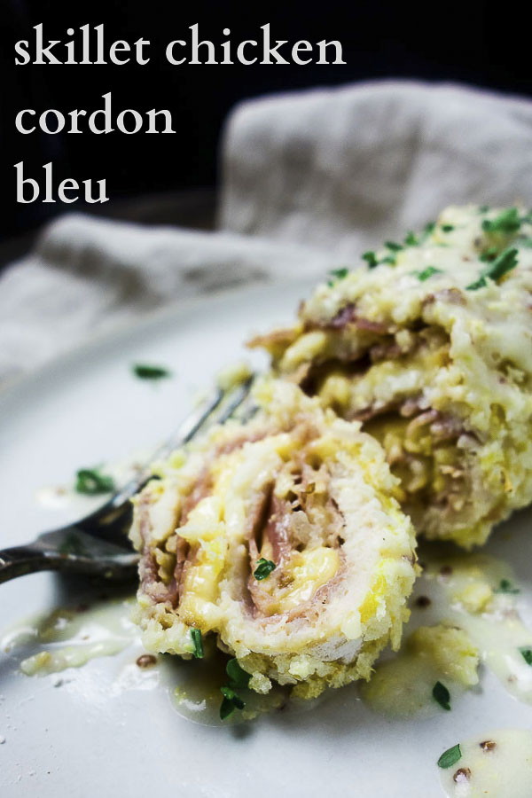 This easy Chicken Cordon Bleu is stuffed with smoked Gouda and prosciutto, then baked and served with a Dijon mustard cream sauce - this stuff is incredible! You\'re going to want to lick your plate clean after you eat this amazingly creamy chicken cordon bleu - it\'s that incredible! cheese, meat, and cream sauce, what more could you ask for?? #wenthere8this #chickencordonbleu #mustardcreamsauce