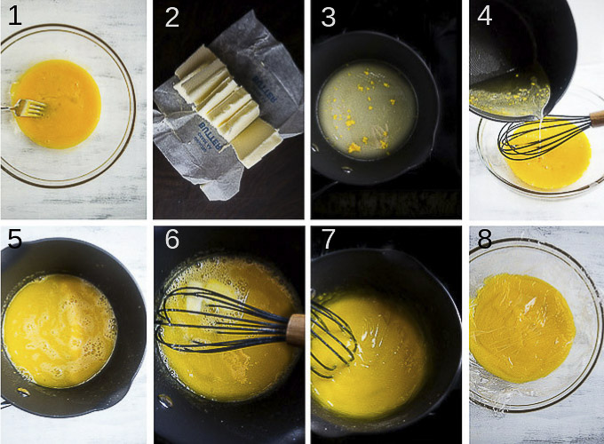 step by step photos for making lemon curd