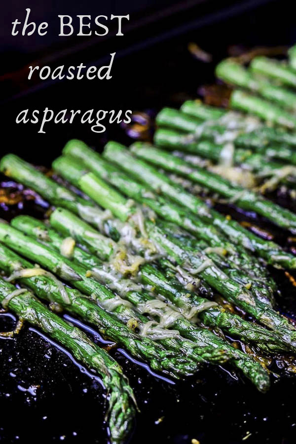 This simple Roasted Parmesan Asparagus is ready in under 20 minutes, SUPER simple to make and absolutely incredible. It\'s the perfect side dish! Coated in a generous amount of olive oil, fresh garlic and fresh grated Parmesan cheese, this roasted asparagus is a great accompaniment to any dish!! #wenthere8this #roastedasparagus #parmesanasparagus #asparagusrecipes