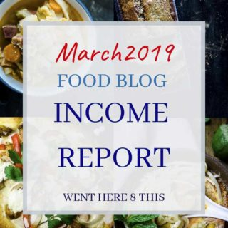 march 2019 food blog income report graphic