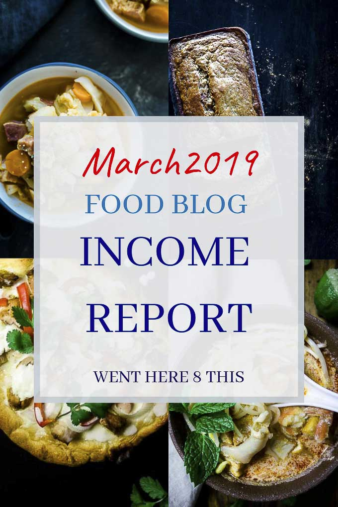Food Blog Income Report: March 2019