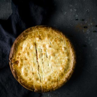 baked crawfish pie - whole