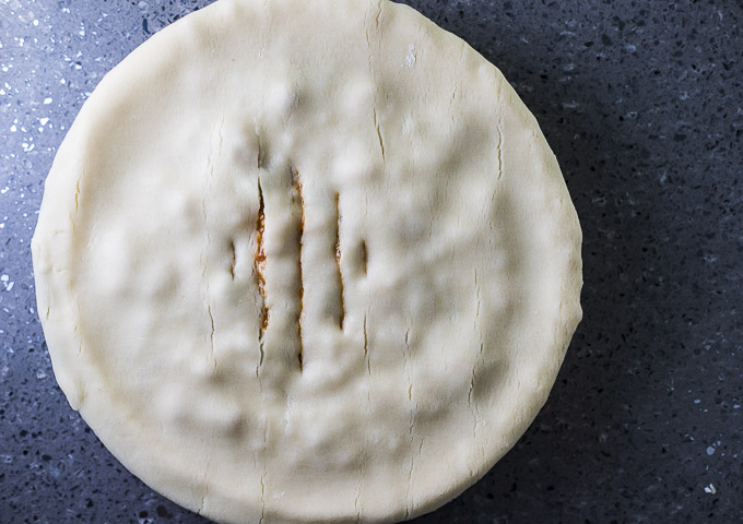 pie with slits in the top