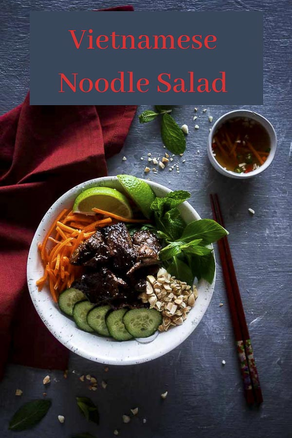 Vietnamese Noodle Salad with Lemongrass Beef