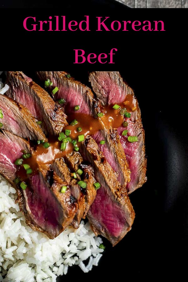 This gochujang marinated Korean Beef recipe has a deliciously spicy, smoky, deep umami flavor from the fermented chili paste marinade. Grilled to perfection, this is the perfect (easy to make) addition to your BBQ! This Korean steak is so incredibly easy to make and has just an amazing flavor from the gochujang marinade (Korean chili paste). Impress your guests and serve this Korean Beef at your next BBQ! #wenthere8this #koreanbeef #koreanbeefbbq