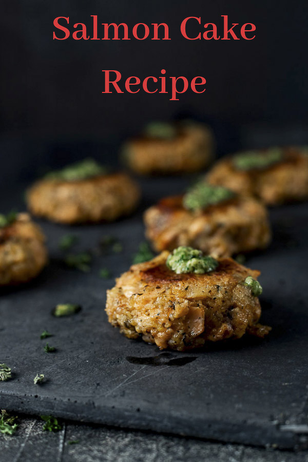 Salmon Cake Recipe with Lemon Pesto