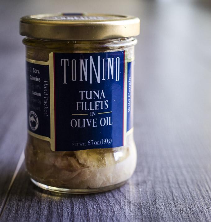 jar of tuna fillets
