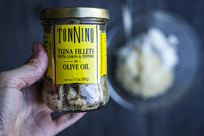 jar of tuna fillets