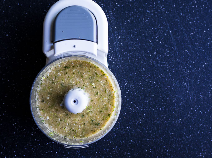 yellow sauce in a food processor