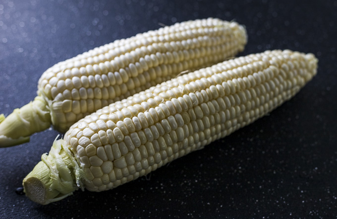 2 ears of corn