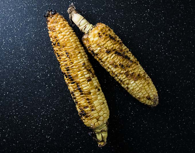 2 ears if roasted corn