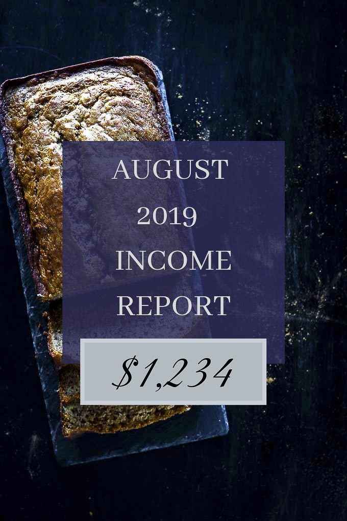 Went Here 8 This food blog income report for August 2019. Read about income, expenses, lessons learned and goals to increase my income for next month! With hard work and determination, you can make money blogging. Follow my monthly income reports for tips, tricks and lessons learned in my journey to grow an online business. #wenthere8this #makemoneyblogging #foodblogging