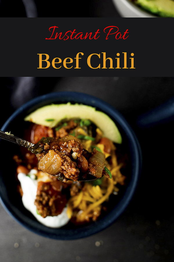 Instant Pot Beef Chili Recipe