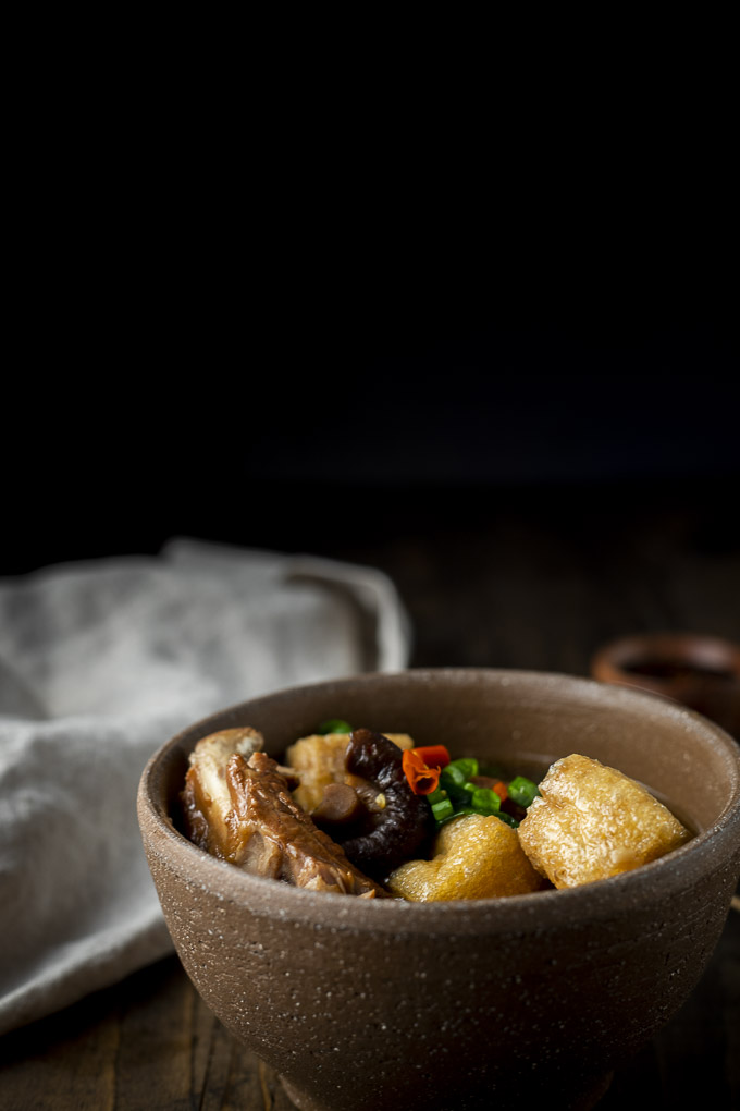 pork ribs soup with tofu and chilies