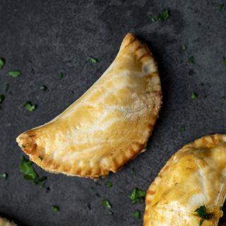 empanada on a surface