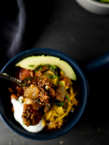 spoon full of chili
