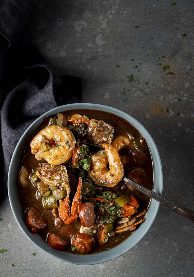 new orleans gumbo in a bowl