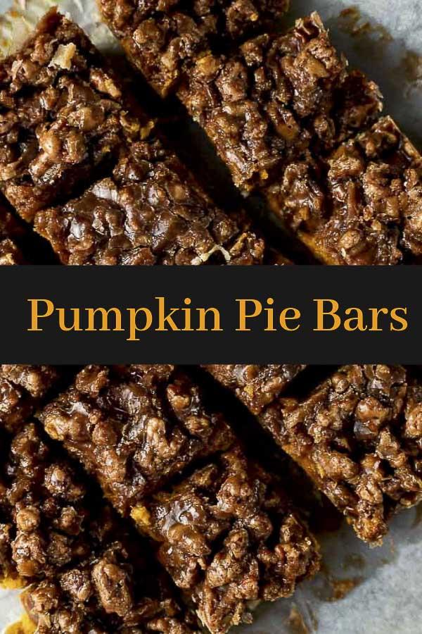 Pumpkin Pie Bars with Shortbread Crust