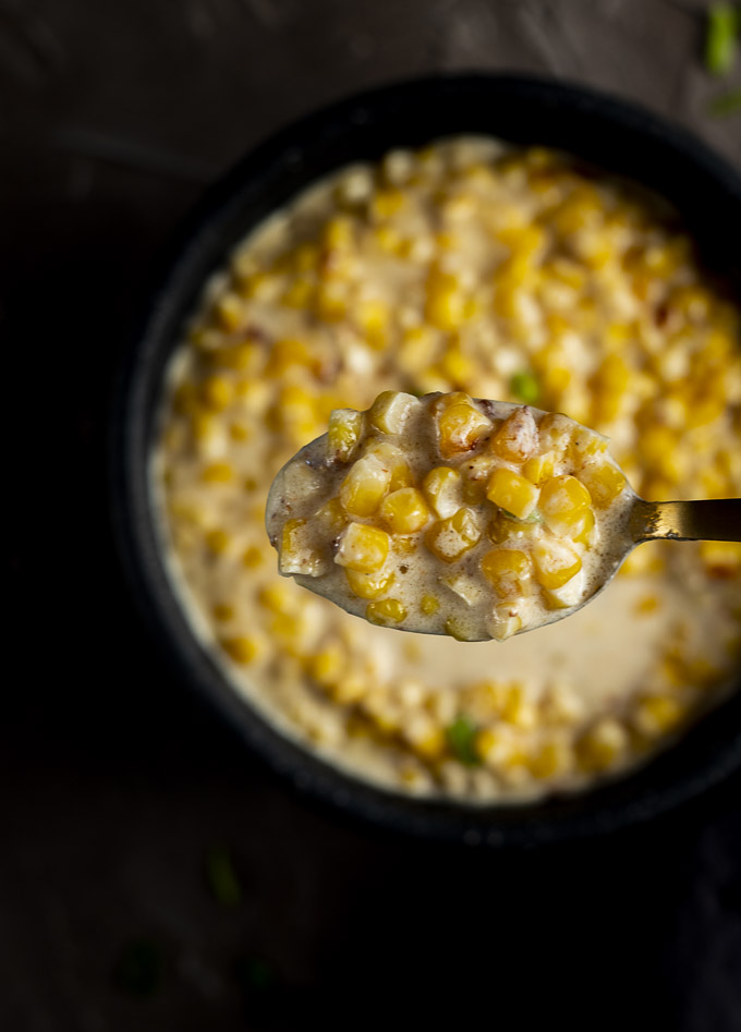 spoonful of creamed corn