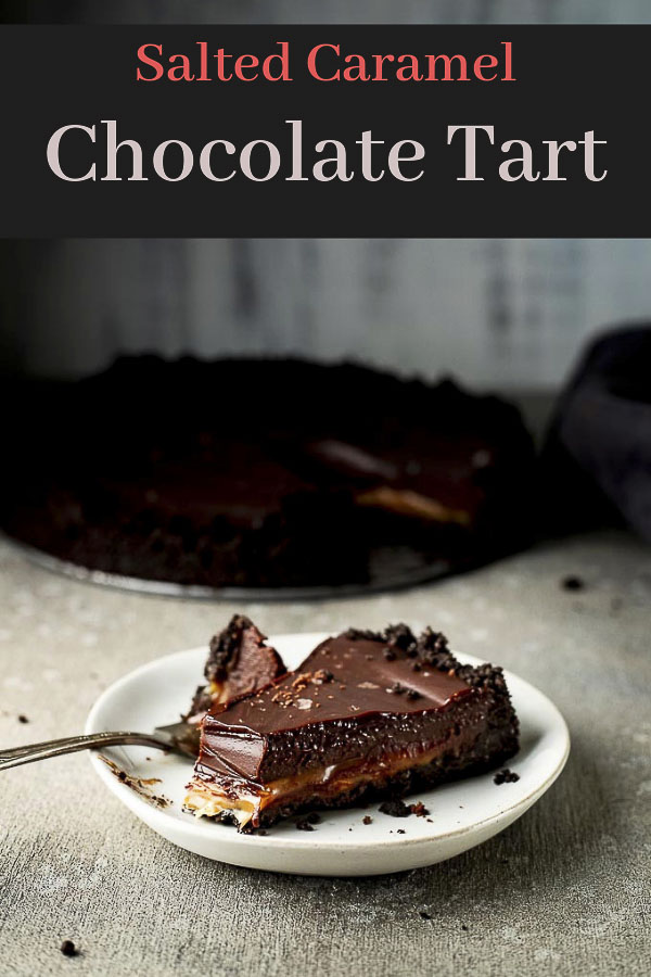 Chocolate Ganache Tart with Salted Caramel