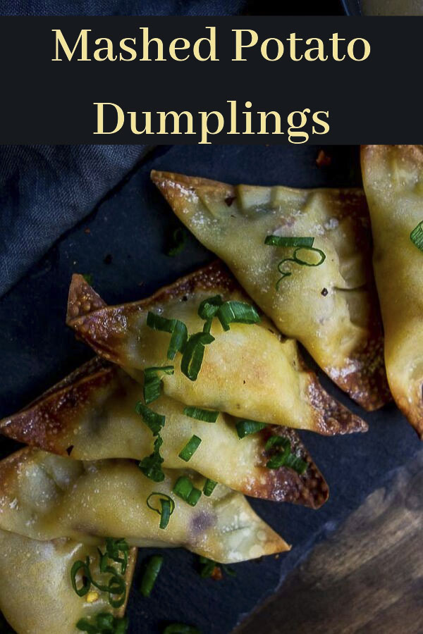 Mixed with cheese, bacon, crispy potato chips, stuffed in a wonton wrapper & baked until golden brown, these Mashed Potato Dumplings are incredible! These dumplings are the perfect way to use those leftover mashed potatoes from Thanksgiving dinner. Mashed Potato Dumplings are easy to make, and even easier to eat! Serve them for game day or a \