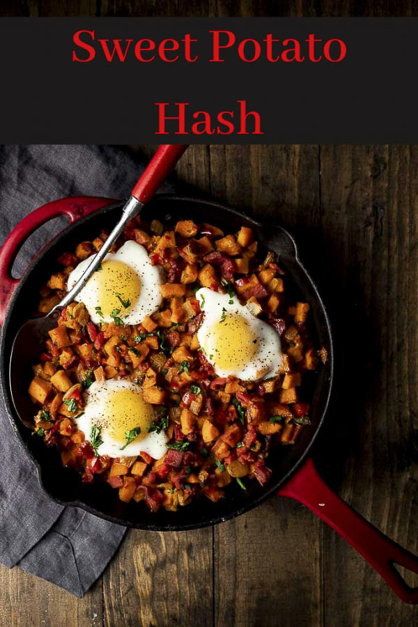 Sweet Potato Hash Recipe with Ham and Eggs