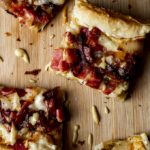 ham and cheese puff pastry cut in squares