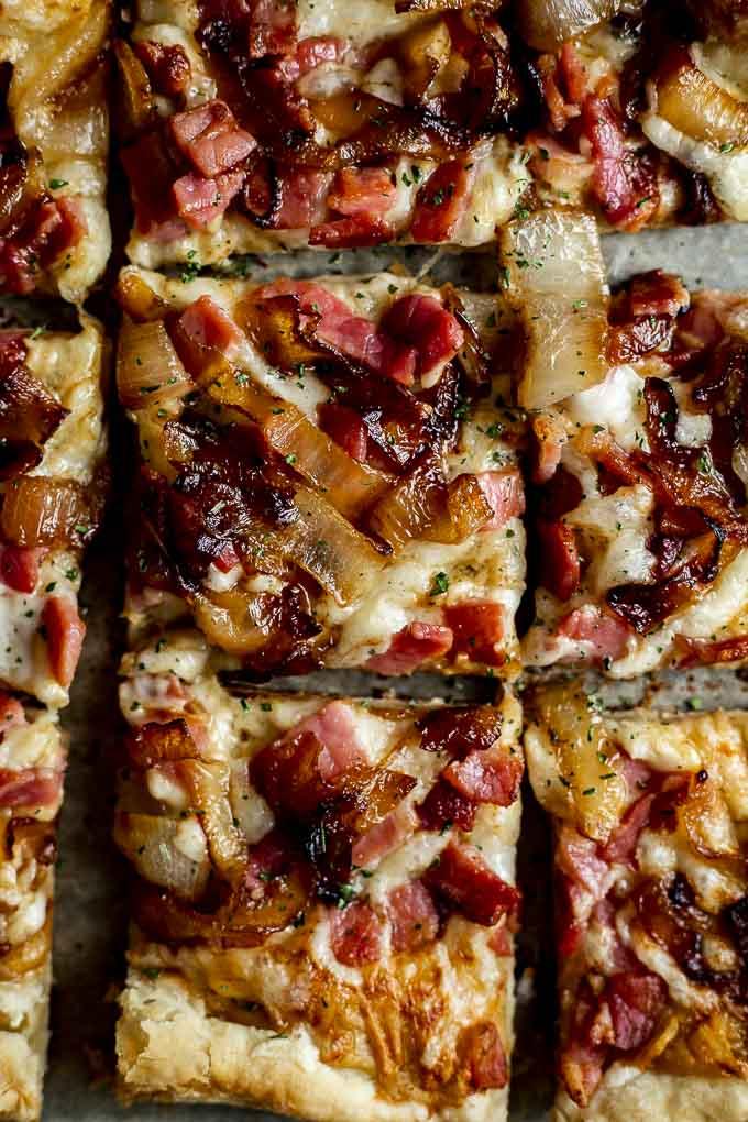 ham and cheese tart
